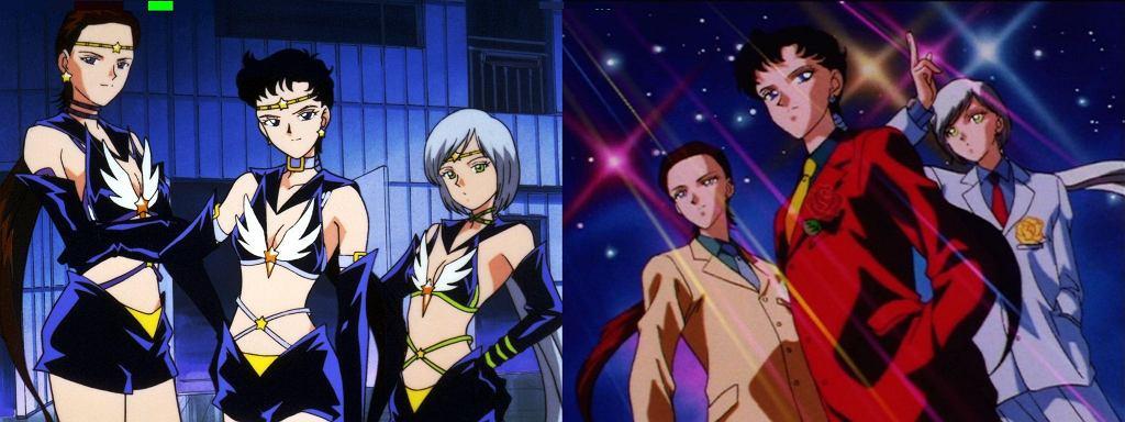 Sailor Stars po przemianie i w 'cywilu'
