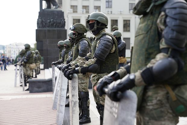 Białoruś. Pokojowy protest w Mińsku, 14.08.2020