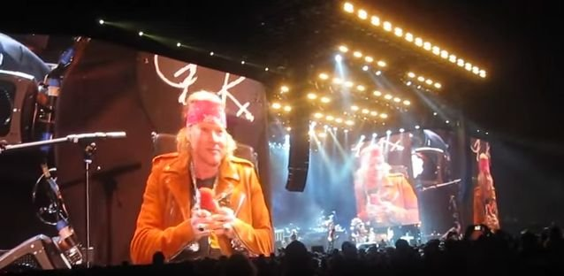 Coachella. Axl Rose podczas występu Guns'n'Roses