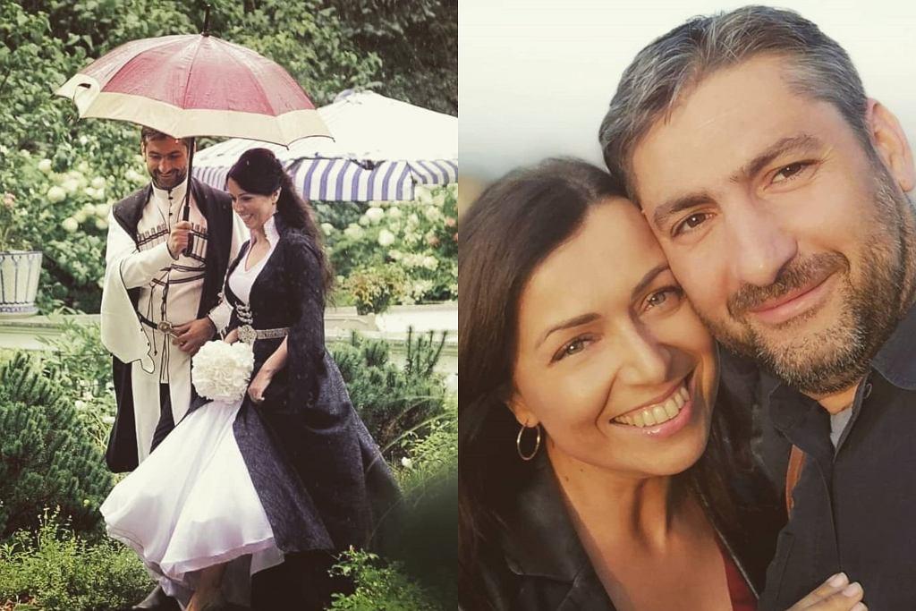 Katarzyna Pakosińska z mężem