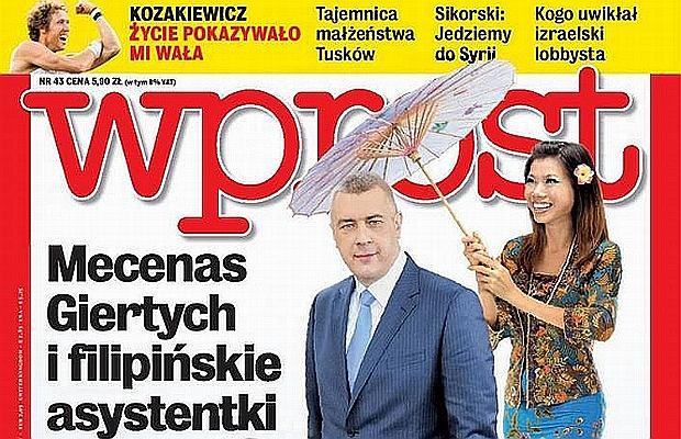 Roman Giertych na okładce tygodnika
