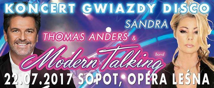 Wakacyjny koncert w Sopocie, Thomas Anders & Modern Talking Band oraz Sandra już 22 lipca wystąpią w Sopocie
