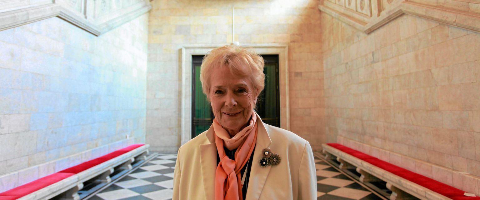 Olga Krzyżanowska w 2011 roku na Kongresie Kobiet  (fot. Sławomir Kamiński / Agencja Gazeta)