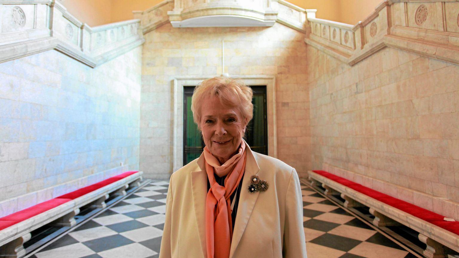 Olga Krzyżanowska w 2011 roku na Kongresie Kobiet