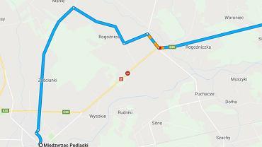 Wypadek na drodze krajowej nr 2. Utrudnienia w ruchu drogowym