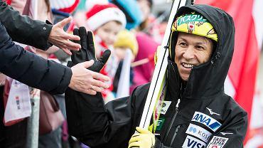 Noriaki Kasai na zawodach Pucharu Świata w Engelbergu