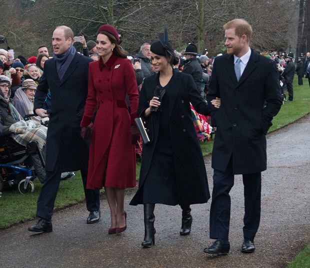 Meghan Markle i księżna Kate w Boże Narodzenie wybrały się razem na mszę