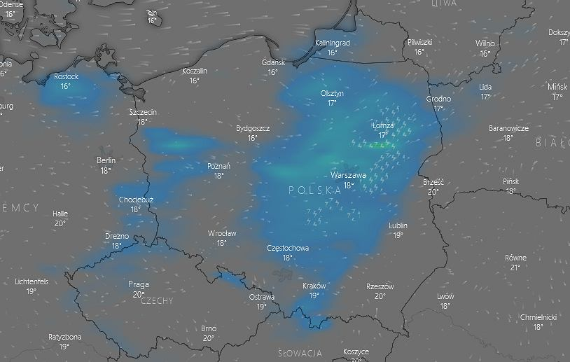 Gdzie jest burza? IMGW: Nawałnice wystąpią w większości Polski