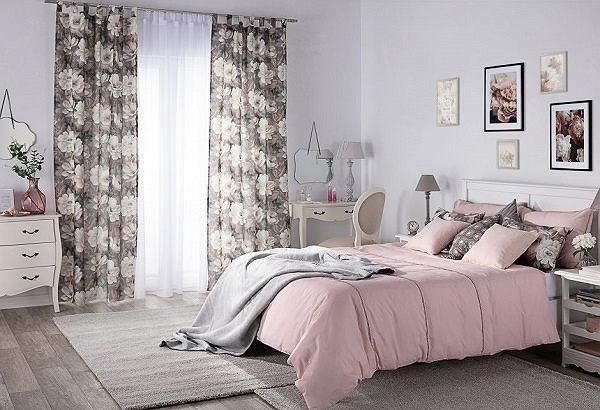 Zasłona na szelkach i poszewki Kinga na poduszki, kolekcja tkanin Gardenia