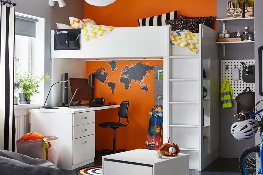 Łóżko piętrowe pojedyncze dla dzieci - seria STUVA