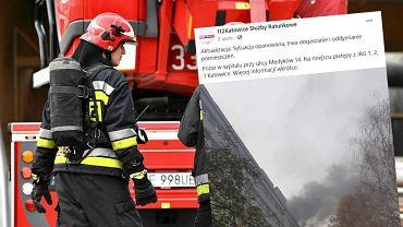 Pożar w szpitalu w Katowicach