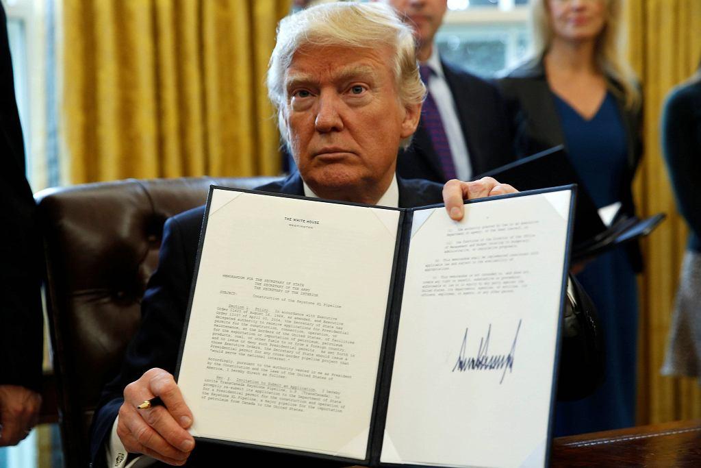Donald Trump i ustawa ws. budowy rurociągu Keystone XL