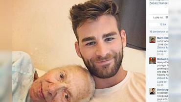 Chris z 89-letnią Normą