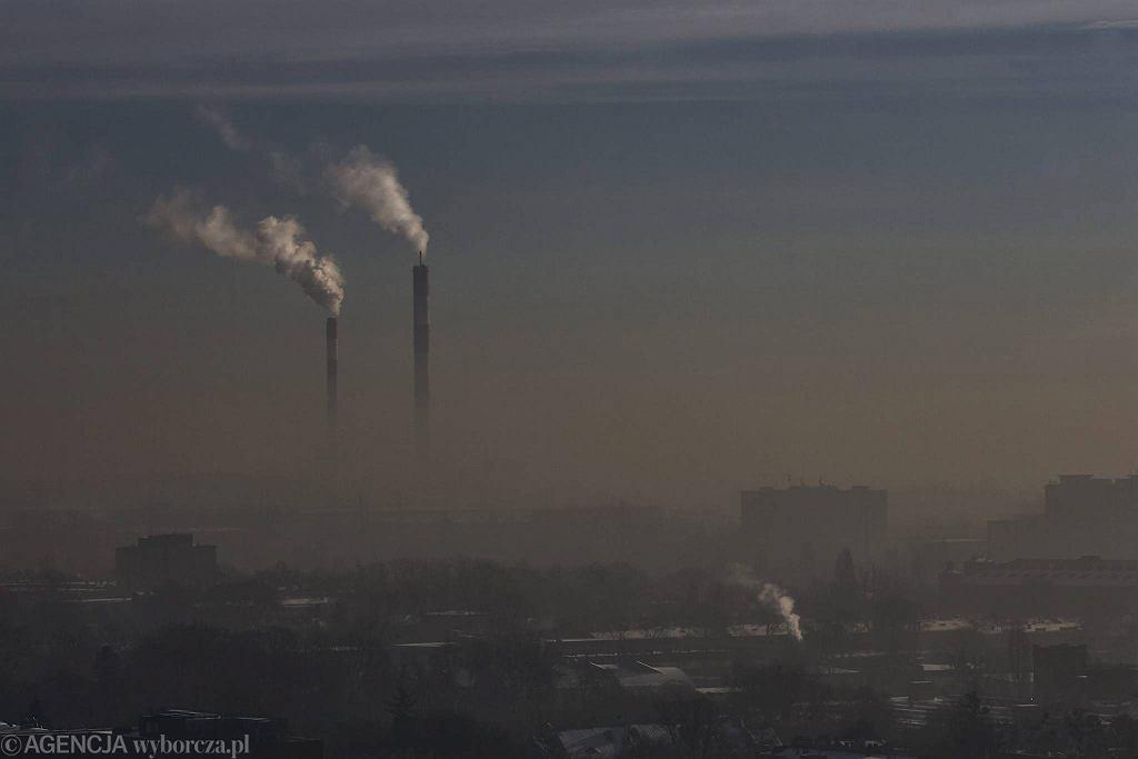 Smog w Łodzi 9 stycznia
