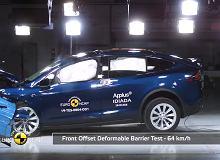 Euro NCAP rozbija Teslę Model X, Porsche Taycana i Skodę Octavię. Wszyscy na pięć gwiazdek? [FILMY]