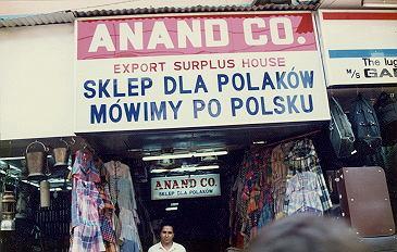 Sklep dla Polaków w Indiach