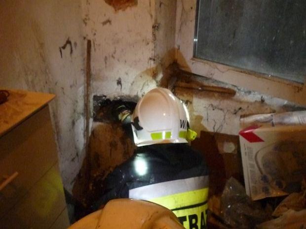 na pomoc wezwano straż pożarną