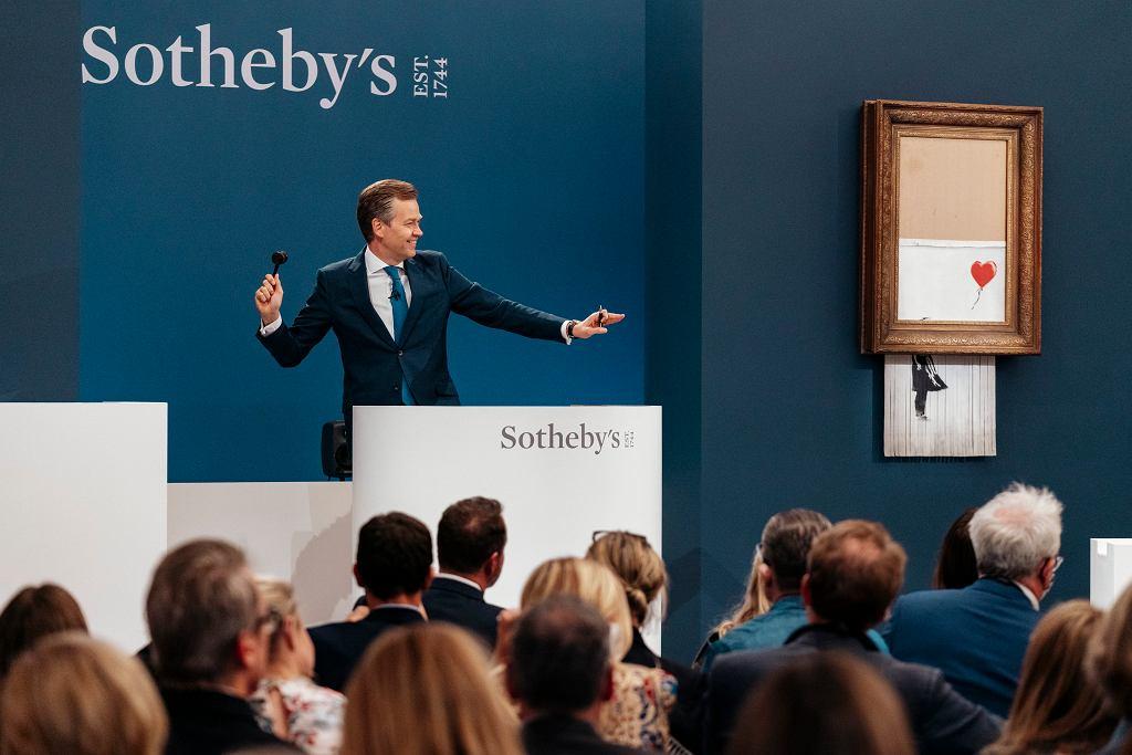 Sprzedała się słynna praca Banksy'ego