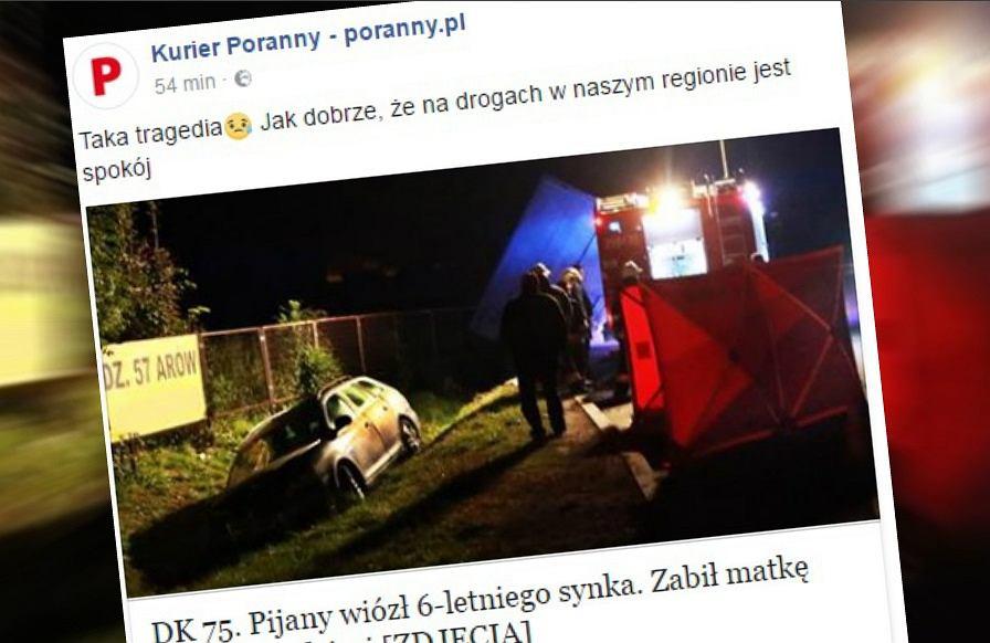 Wypadek na DK 75 w Małopolsce