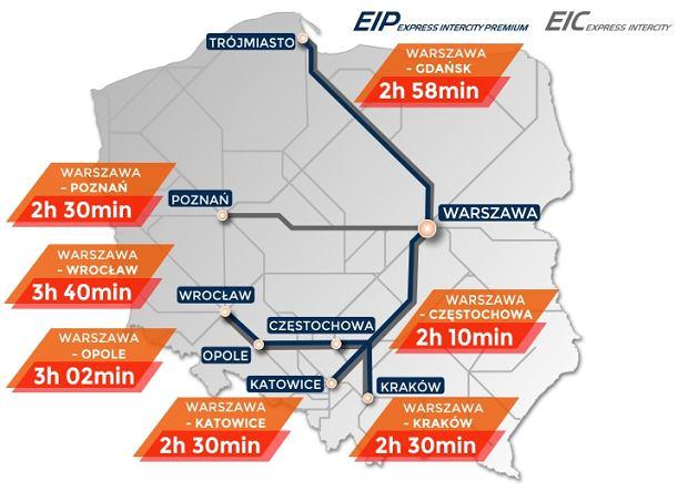 Trasa z Warszawy do Gdańska zajmowała dotychczas 2 godz. 58 minut