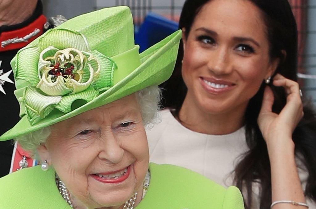 Księżna Meghan i królowa Elżbieta