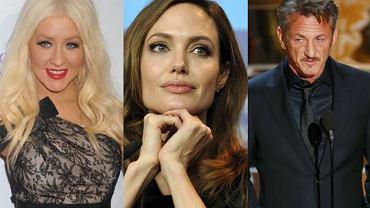 Christina Aguilera, Angelina Jolie, Sean Penn