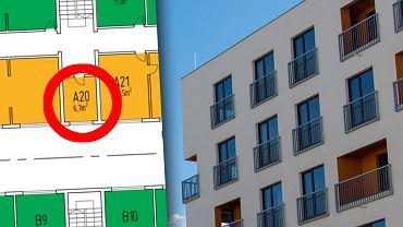 Mieszkanie w Warszawie ma powierzchnię 6,7 m kw.