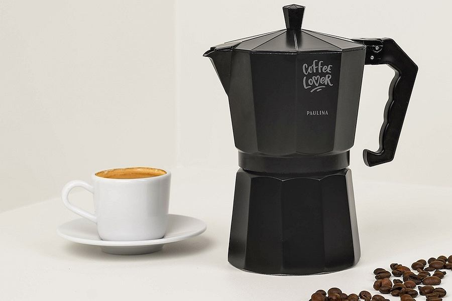 Czarna kawiarka Coffee Lover