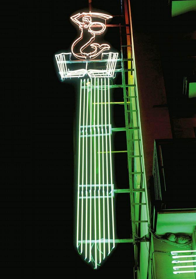 Neon biblioteki przy Grójeckiej / Fot. Ilona Karwińska / album
