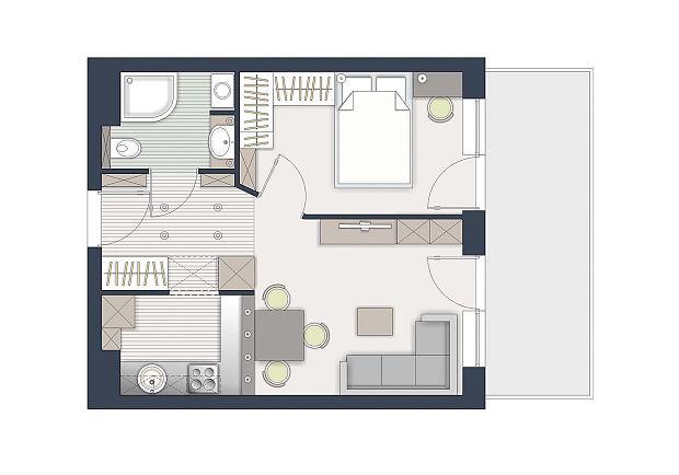 Jak wydzielić dwa pokoje na 36 metrach?