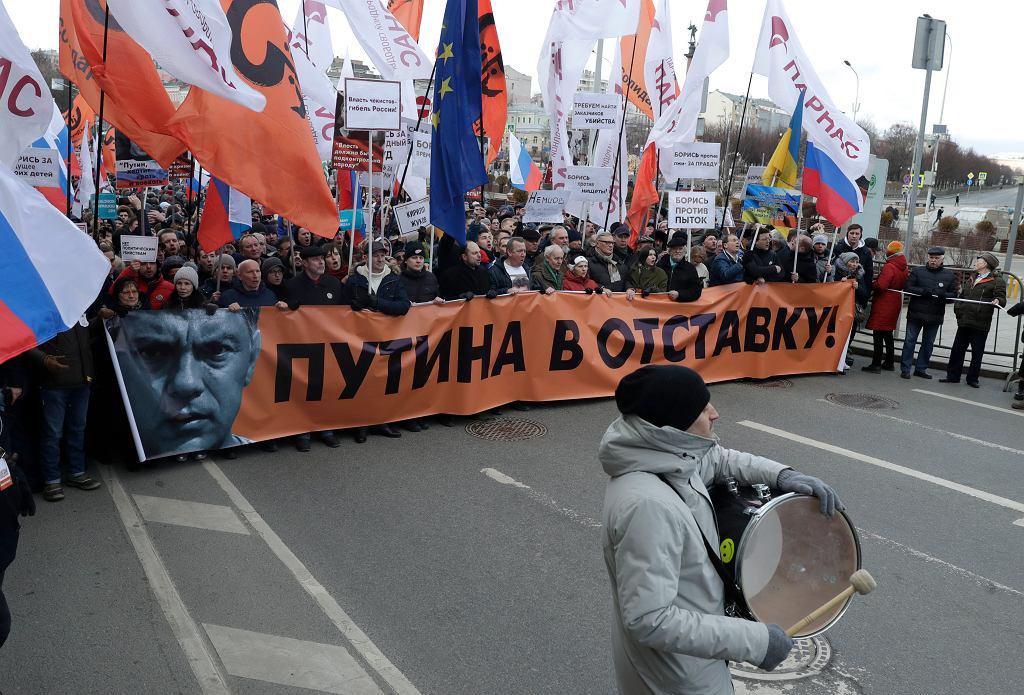 Demonstracja antyputinowskiej opozycji w Moskwie była poświęcona m.in. pamięć zamordowanego Borysa Niemcowa
