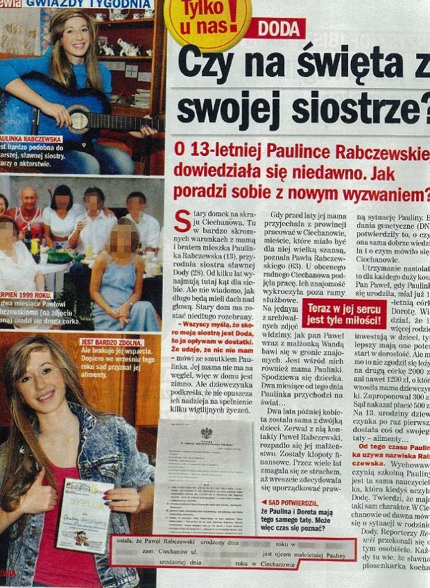 """scan z """"Rewii"""" 19 grudnia 2012, Nr 51, Paulina Rabczewska"""