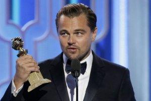 Leonardo DiCaprio na Złotych Globach 2016