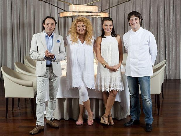 Jury Masterchef w składzie Michel Moran, Magda Gessler, Anna Starmach i Jordi Cruz