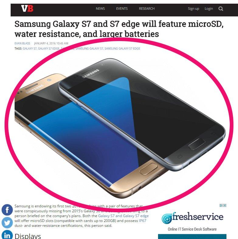 Tak najpewniej będą wyglądać Samsung Galaxy S7 i Samsung Galaxy S7 Edge