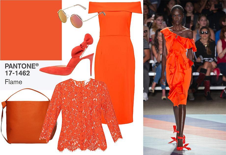 Flame orange - najbardziej rozgrzewający odcień sezonu