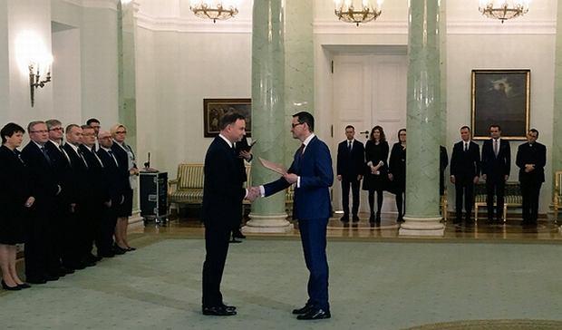 Prezydent Duda powołał Mateusza Morawieckiego na stanowisko premiera