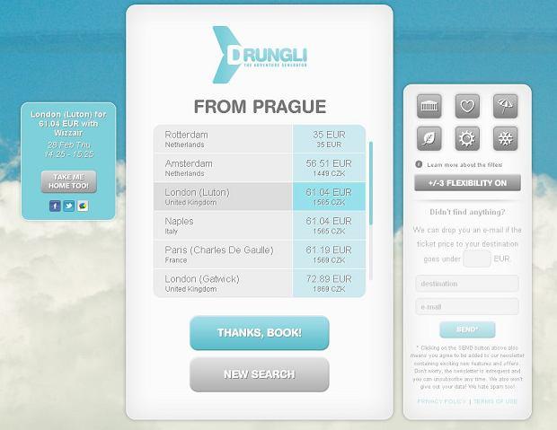 Drungli.com / print screen ze strony internetowej