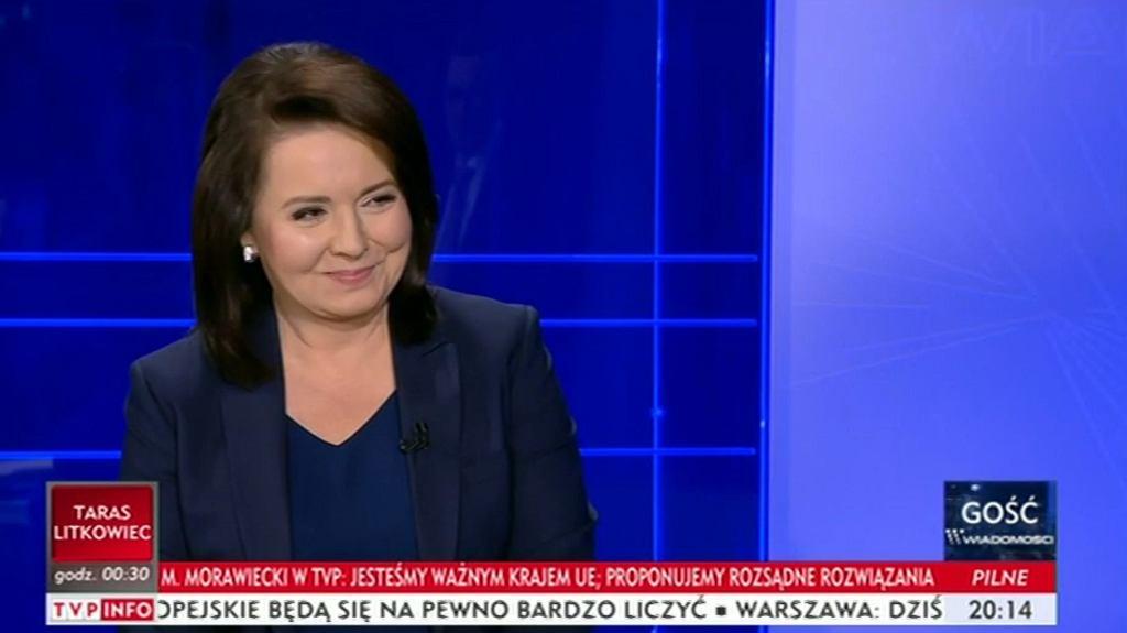 Danuta Holecka z TVP