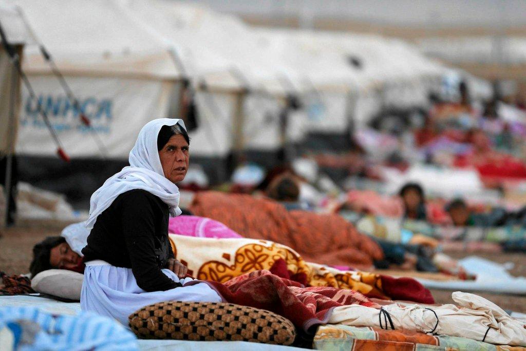 Obóz dla uchodźców w Iraku