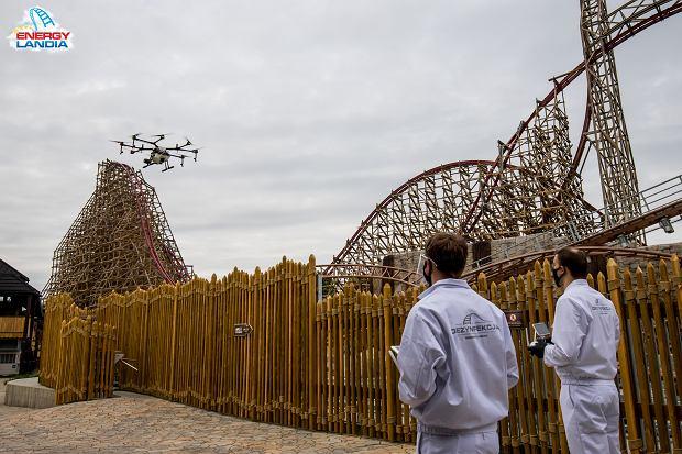 Parki rozrywki wrócą w czwartym etapie odmrażania. Energylandia już się przygotowuje. Drony odkażą park