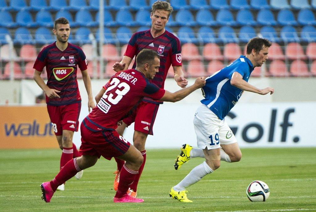 Videoton Szekesfehervar - Lech Poznań 0:1. Roland Juhasz i Kasper Hamalainen