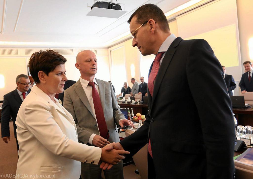 Beata Szydło, Paweł Szałamacha i Mateusz Morawiecki
