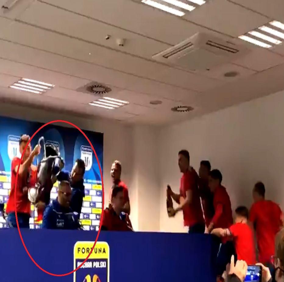 Olbrzymia radość piłkarzy Rakowa Częstochowa