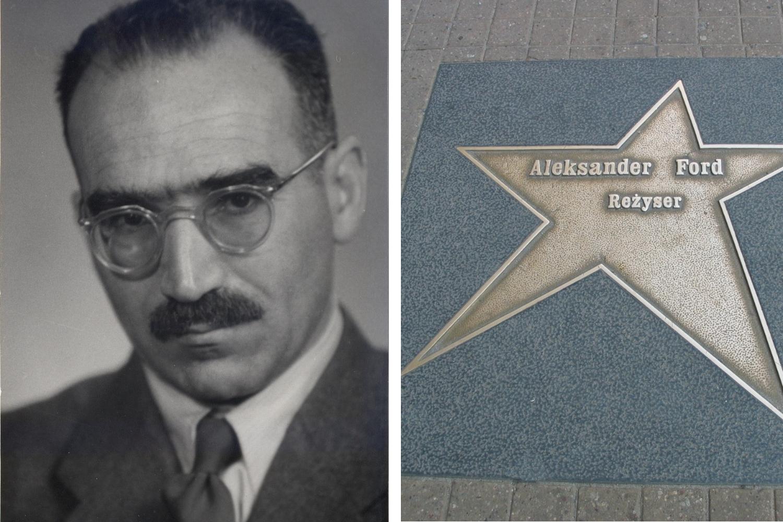 Aleksander Ford ma swoją gwiazdę w Alei Gwiazd w Łodzi (fot. Wikimedia Commons)
