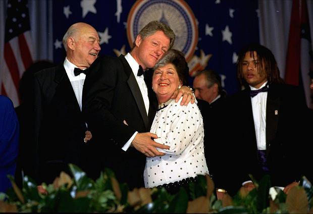 Prezydent Bill Clinton z matką Virginią Clinton Kelley.