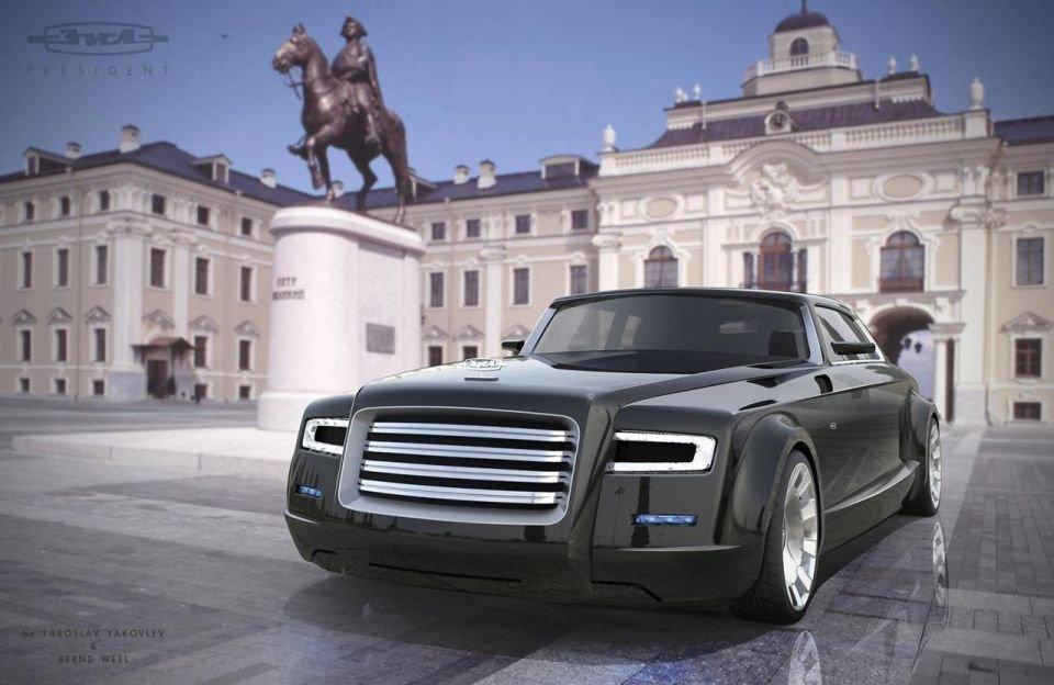 Projekt limuzyny ZIŁ - czy tak będzie wyglądać limuzyna prezydenta Rosji?