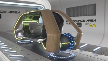 Samochód przyszłości Vision UMOD z oponami Goodyear Eagle 360 Urban.