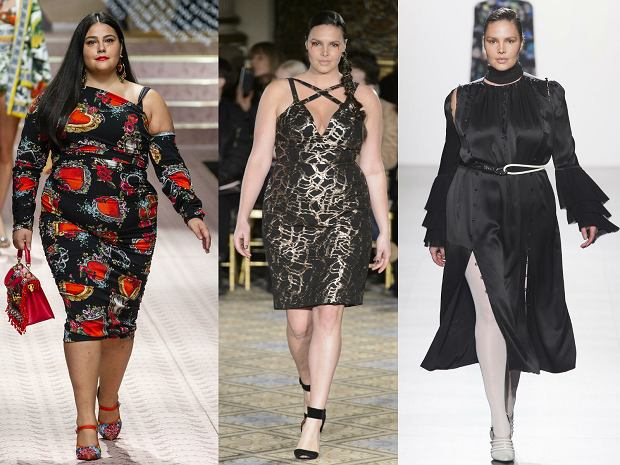 Moelki plus size na pokazach kolekcji Dolce&Gabbana, Christiano Sirano i Prabal Gurung
