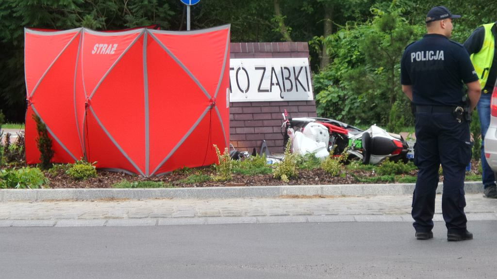 Śmiertelny wypadek motocyklisty w Ząbkach